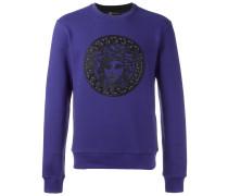 Medusa leather detail sweatshirt