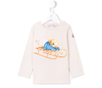 sledding duck print sweatshirt