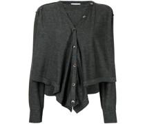 Fein gestrickter Pullover im Layering-Look