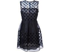 Semi-transparentes Kleid mit Punkten