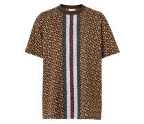 'Monogram' T-Shirt mit Streifen