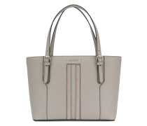 stripe front tote bag