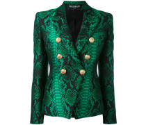 printed double breasted blazer - women