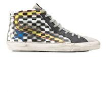 High-Top-Sneakers mit Karo