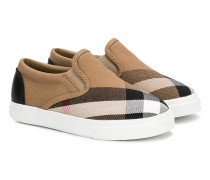 checked slip-on sneakers