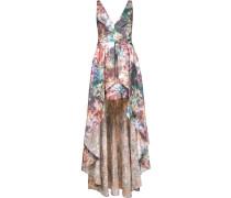 Asymmetrisches Abendkleid mit Print