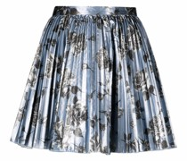 pleated floral-print skirt