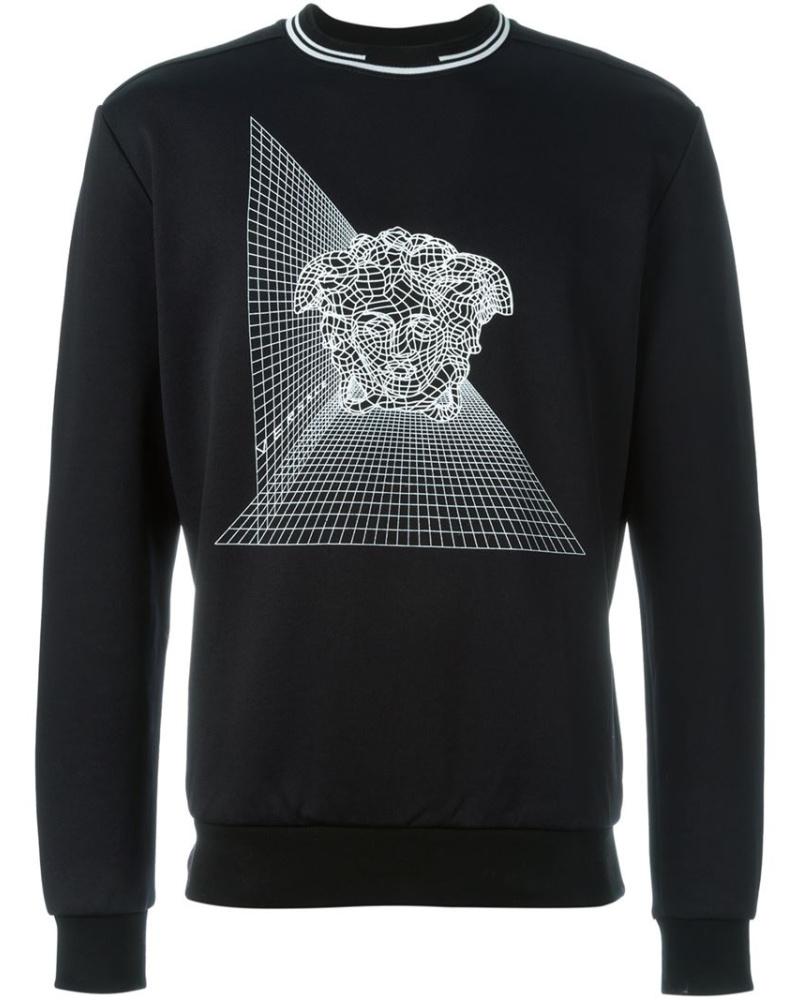 versace herren sweatshirt mit mudasa motiv reduziert. Black Bedroom Furniture Sets. Home Design Ideas