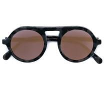 Runde Sonnenbrille in Schlidpattoptik - women