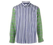 Gestreiftes Hemd mit Karomuster
