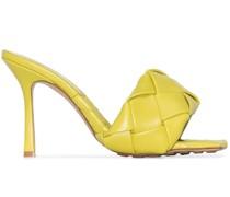 Sandalen mit gewebten Riemen, 90mm