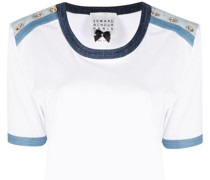 T-Shirt mit Kontrastborten