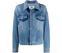 Jeansjacke mit Kontrastdetail