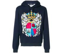 crest print hoodie