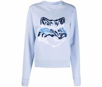 Sweatshirt mit Big Fox-Stickerei