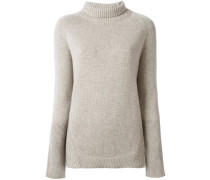 ribbed detail pullover