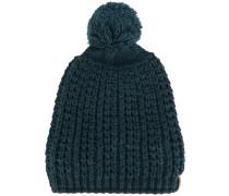 pompom knitted beanie