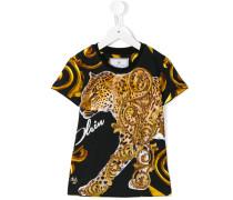 - T-Shirt mit Leoparden-Print - kids - Baumwolle