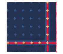 Bee pattern silk pocket square - men - Seide