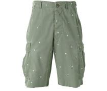 Gepunktete Cargo-Shorts