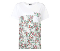 blocked floral T-shirt