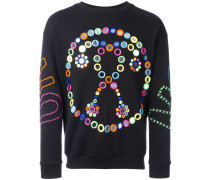 Sweatshirt mit Spiegel-Applikation