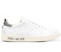 x Disney Mickey Mouse leather lace-up sneakers