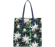 Oriental floral tote bag