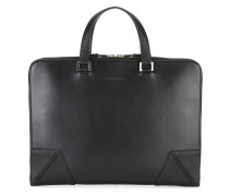 logo embossed briefcase