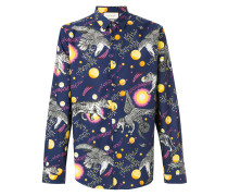 Space Animals print shirt