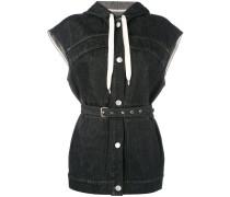 Jeansweste mit Gürtel - women - Baumwolle - 38