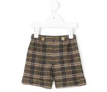Karierte Woll-Shorts