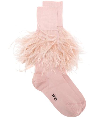 Socken mit Streifen