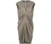 gathered-front draped dress