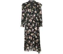Wollkleid mit floralem Print