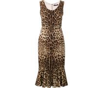 Ärmelloses Kleid mit Leopardenmuster