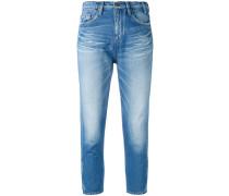 Skinny-Jeans mit hohem Bund - women - Baumwolle