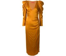 Satin-Kleid mit Puffärmeln