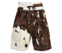 Shorts mit Kuhfell-Optik - men - Kalbsleder - 48