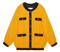 Oversized-Bomberjacke aus Tweed