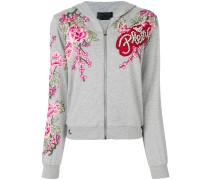 rose zipped hoodie