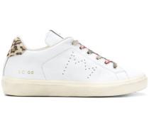 leopard print detail sneakers