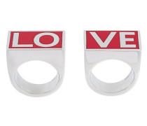 """Ring-Set mit """"Love""""-Schriftzug"""