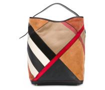 panelled bucket shoulder bag