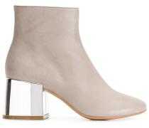 Stiefel mit Absatz im Metallic-Look