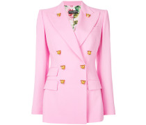 Tiger button double-breasted blazer