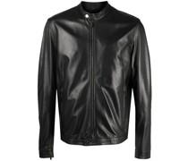 regular-fit leather jacket