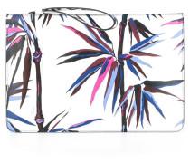 Clutch mit Palmen-Prints