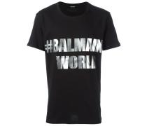 """T-Shirt mit """"#BalmainWold""""-Print"""