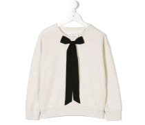 bow detail sweatshirt